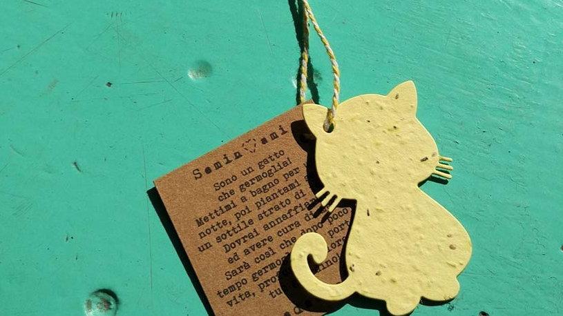 COLAN1 Collana Animali Piantabile in Carta che Germoglia + Istruzioni Se