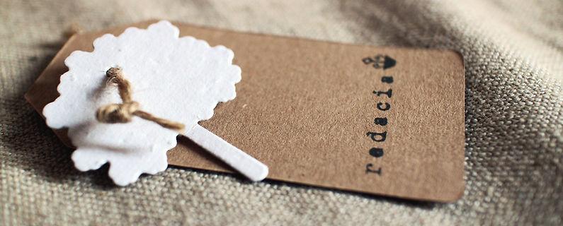 biglietto tag piantabile in carta che germoglia, carta seminabile, plantable paper, carta piantabile