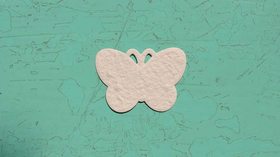FA2S Farfalla Piantabile+Stampa 4,5x3,5 cm in Carta che Germoglia