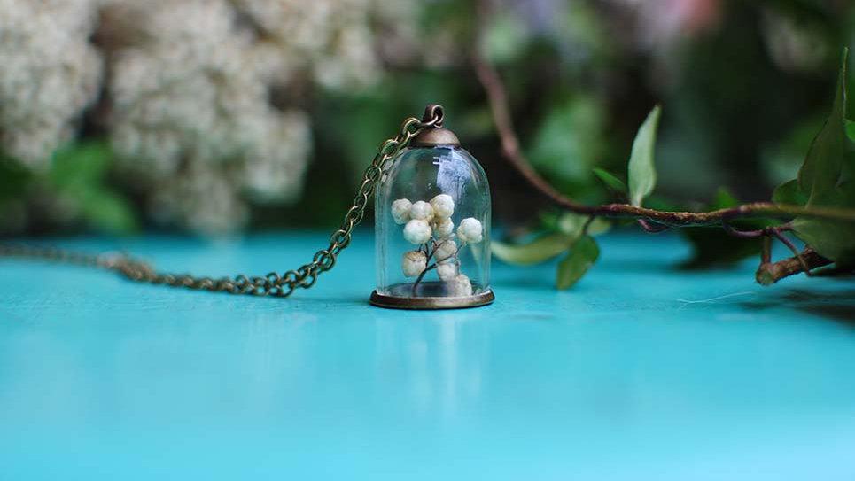 Collana campana mignon con Diosmi bianco