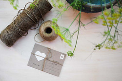 cartolina piantabile fatta a mano
