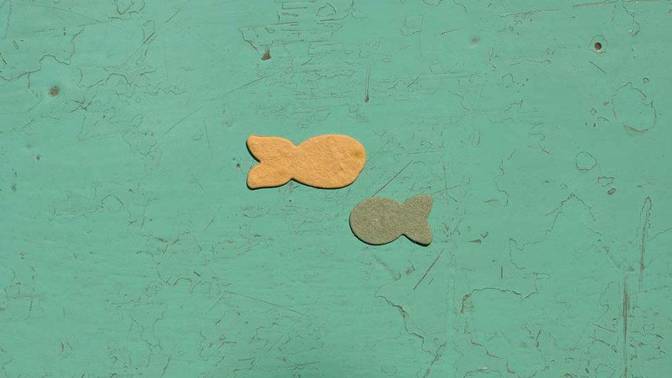 PESC1 Pesci Piantabili 2,5x1-1,8X1 cm in Carta che Germoglia
