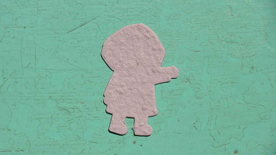 BAM1 Bambino Piantabile 6x4 cm in Carta che Germoglia