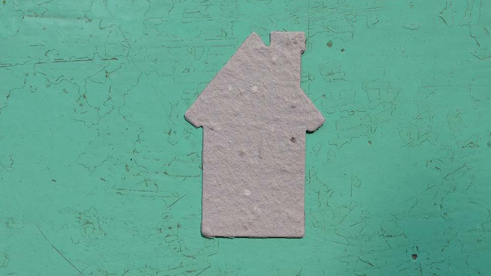 CAS3 Casa Piantabile 5,5x3,7 cm in Carta che Germoglia