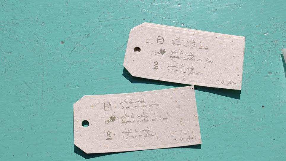 TAG5S Tags Piantabile+Stampa di varie misure in Carta che Germoglia