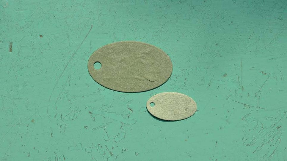 TAG1 Tags Ovali Piantabile di varie misure in Carta che Germoglia