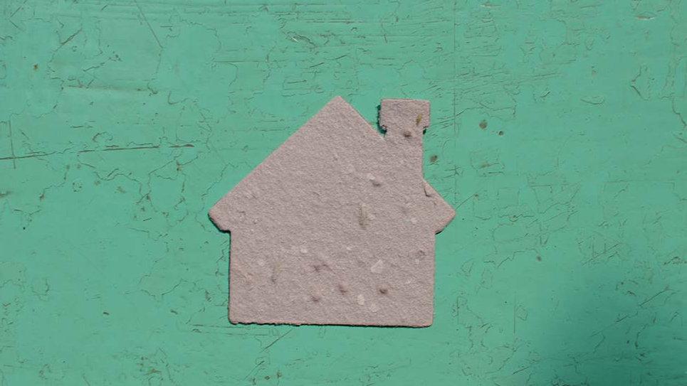 CAS2 Casa Piantabile 5x4,5 cm in Carta che Germoglia