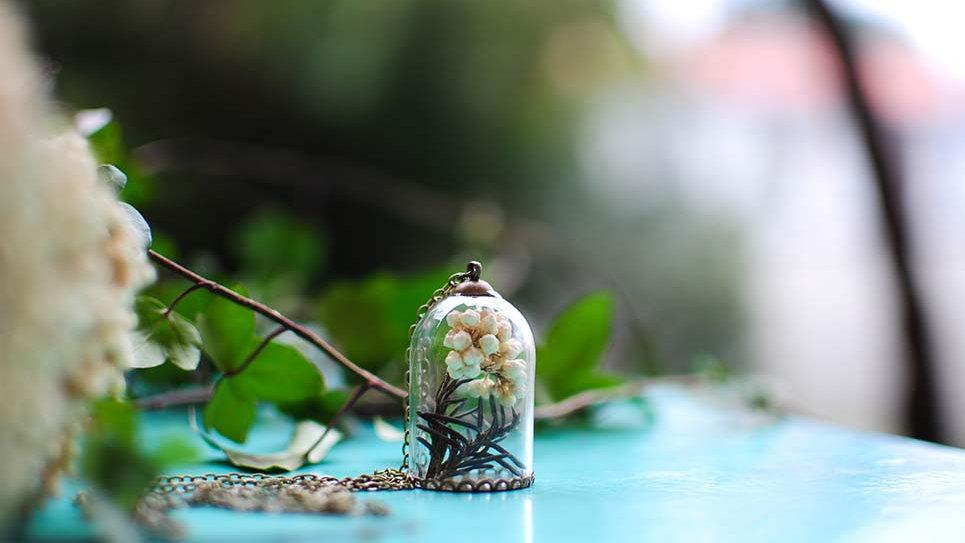 Collana campana con Diosmi bianco