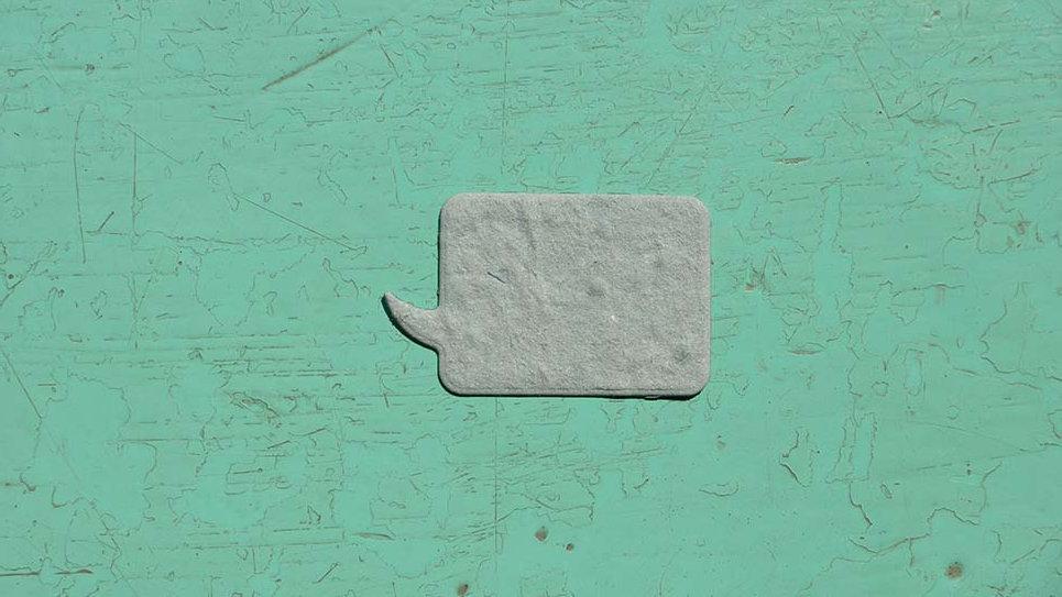 FUM1S Fumetto Piantabile+Stampa 2,5x4 cm in Carta che Germoglia