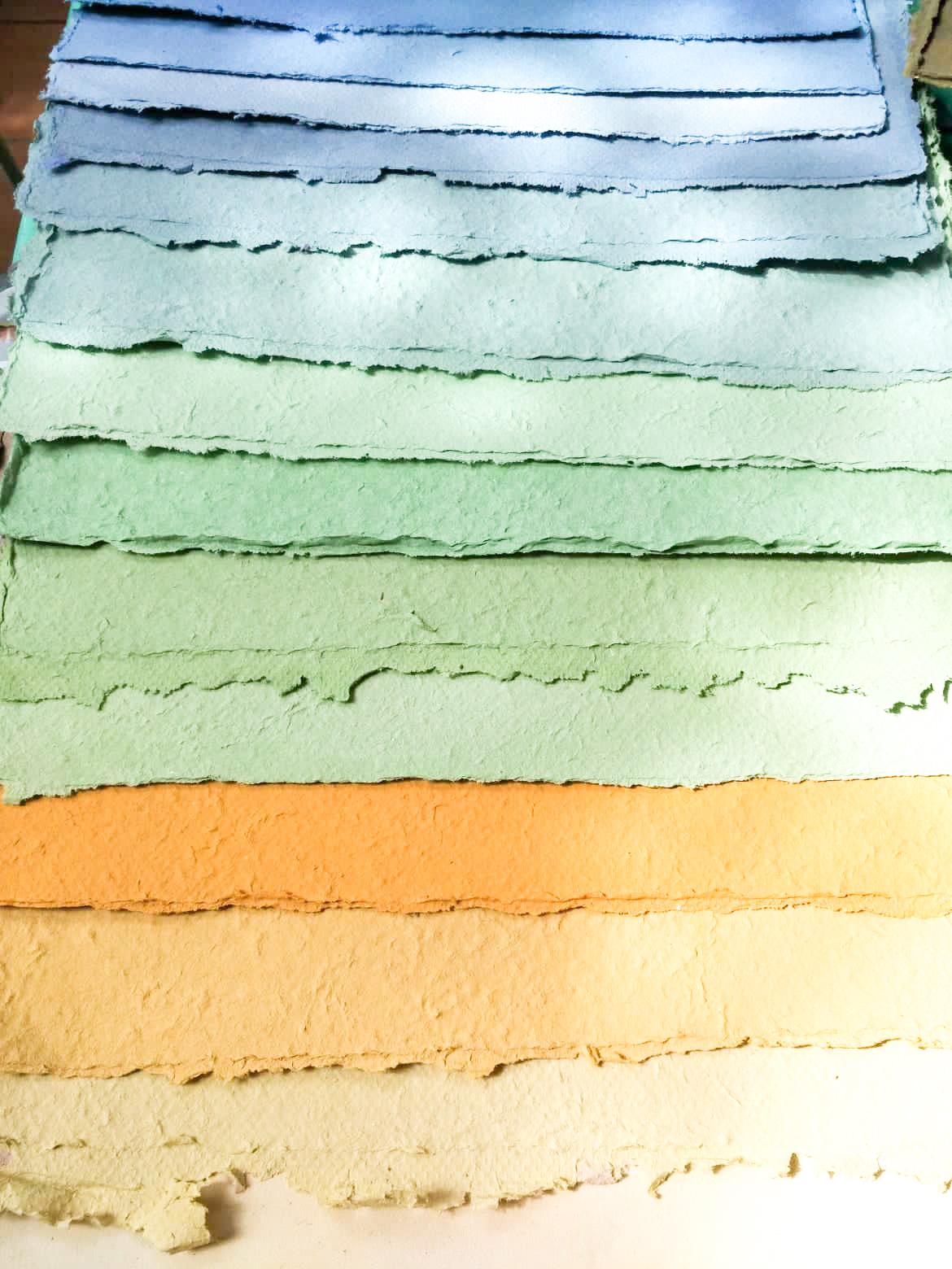 fogli carta seminabile colorata