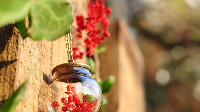 Collana fiori rossi Gypsy Bloom