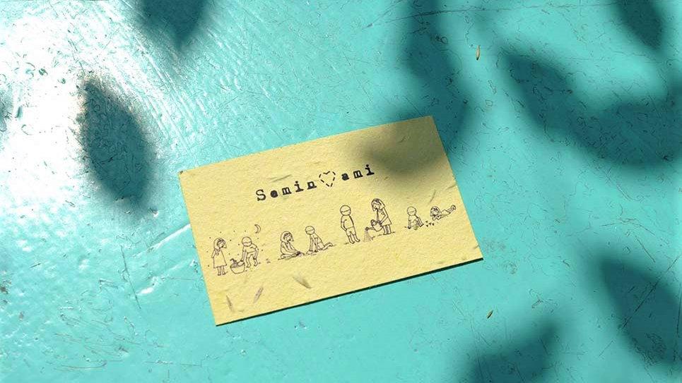 Biglietto in Carta che Germoglia con Istruzioni per la Semina