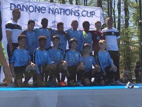 Direction Clairefontaine avec l'équipe U12 pour la Danone Cup