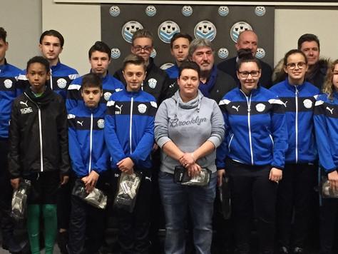 Remise officielle des gants de gardien de but (U11 à Sénior)