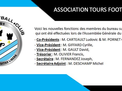 Nouveau bureau pour l'Association du Tours Football Club