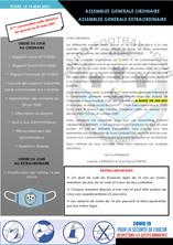 ASSEMBLEE GENERALE - 2ème convocation (mardi 1er juin 2021)