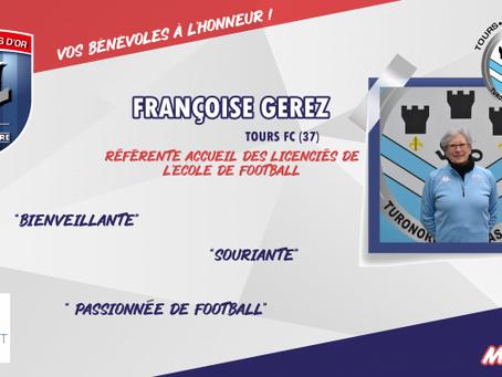 Nos bénévoles mis à l'honneur par la Ligue Centre Val de Loire de Football -  Françoise GEREZ