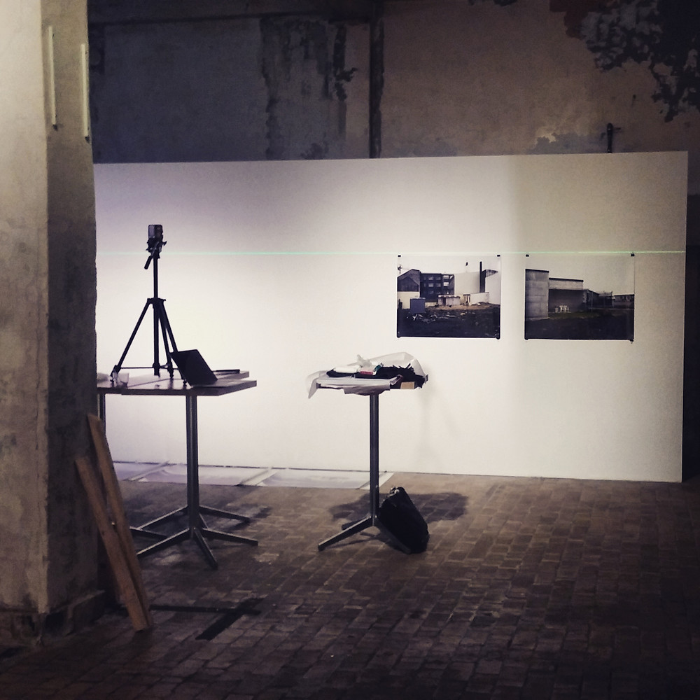 """From the instalation of """"Inner and outer landscapes"""" in Bergen Kjött."""