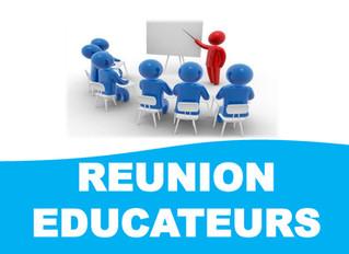 Réunion éducateurs - AJOURNÉE