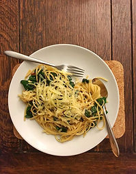 Swiss Chard, Nutmeg & Gruyère Pasta
