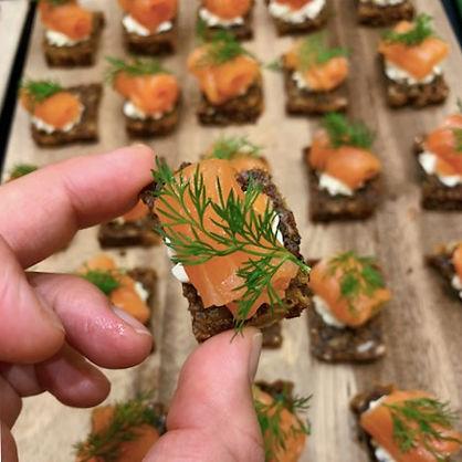 Smoked Salmon Canapés
