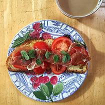 Tomato & Parma Ham Breakfast Bruschetta