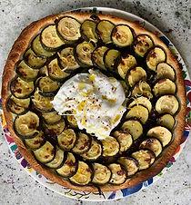 Courgette & Burrata Tart