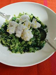 Courgette, Wild Garlic & Mozzarella Bowl