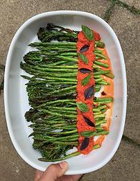 Roasted Tenderstem & Asparagus with Romesco