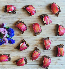Beetroot Cured Smoked Salmon Canapés