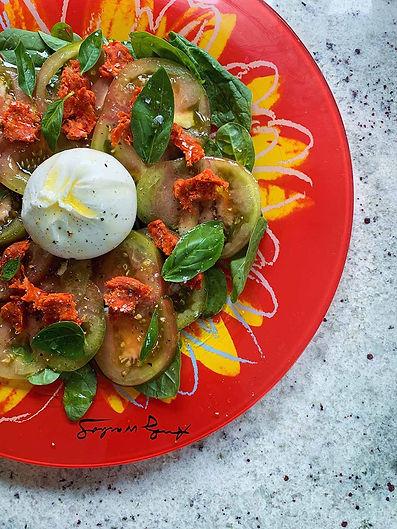 Tomato, Mozzarella & Nduja Salad