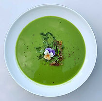 Corn, Courgette, Coriander & Lettuce Soup