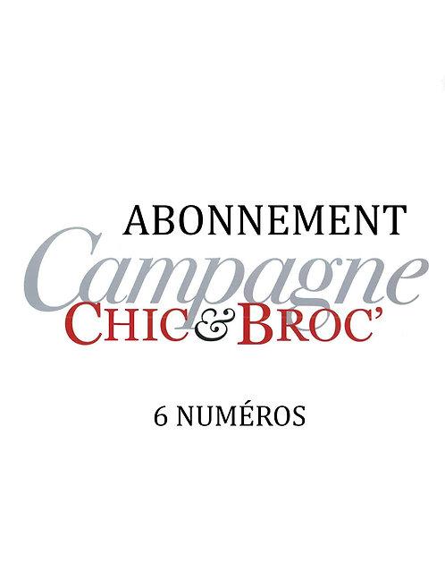 Campagne Chic & Broc - Abonnement 6 numéros