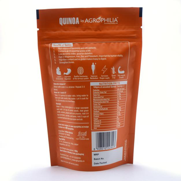 Quinoa 100 Gram - Back