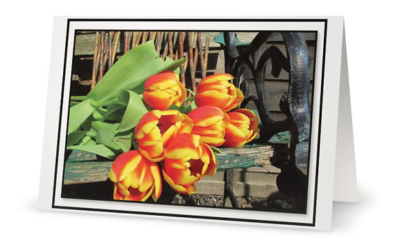Happy B-Day Card ''Bouquet Of Tulips''