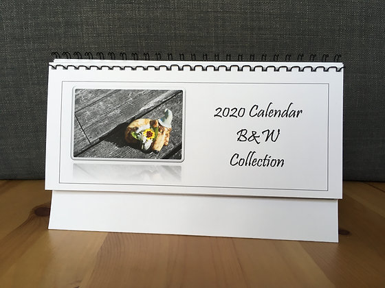 2021 Handmade Desk Calendar - B&W Collection