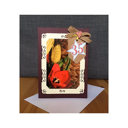35th Birthday Special Occasion Card A5