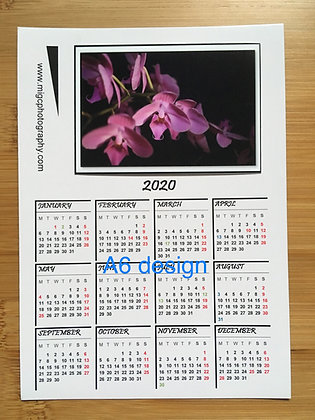2020 Handmade Calendar Magnet ''A Twig Of Orchid's Blossoms''