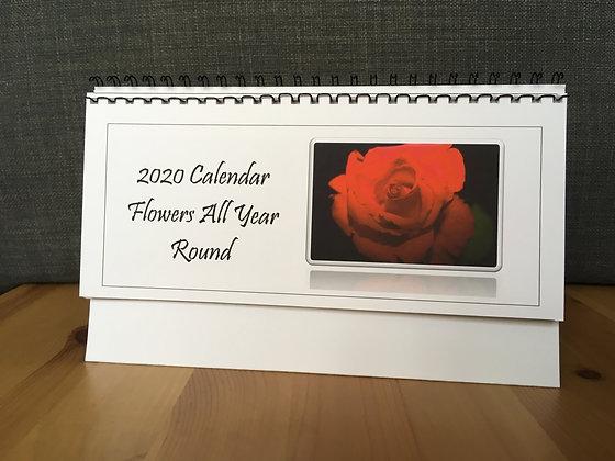 Floral Desk Calendar 2020