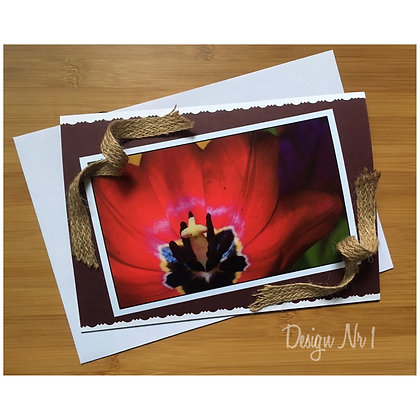 Notecard ''Red Tulip''