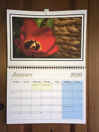 Wall Calendar 2020 ''Red Tulip''