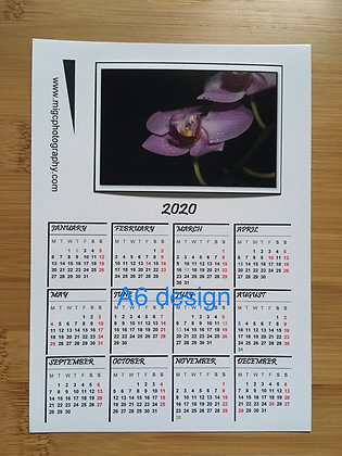 Calendar 2021 Magnet ''Orchid With Water Drops''