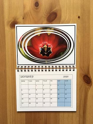 Handmade Calendar 2020 ''Red Tulip''