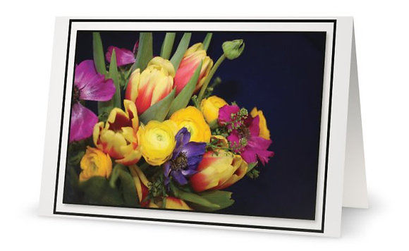 B-Day Greeting Card ''Bouquet Of Flowers''