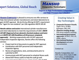Hansho helps International Cylinder Companies and Retest Agencies gain US DOT Approval