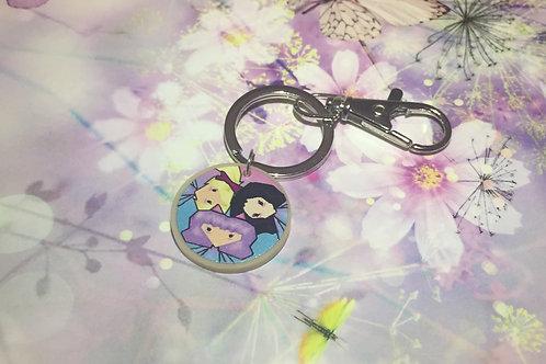 3 Kitties Key Ring