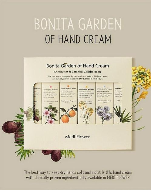 MediFlower Bonita Garden - 6 Crèmes pour les mains