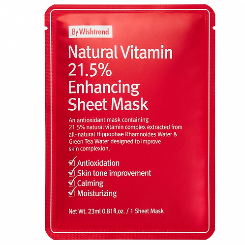 [BY WISHTREND] - Natural Vitamin C21.5% Enhancing Sheet Mask