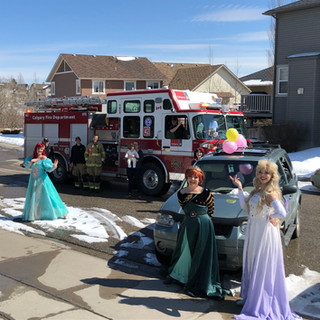 The magic was enhanced with a visit from the fire depot!!