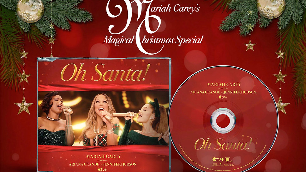 "Mariah Carey feat, Ariana Grande & Jennifer Hudson ""Oh Santa!"" cd single"